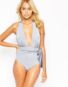35fe4ecaaefbdb ASOS Belted Plunge Swimsuit at asos.com. BadeanzugBademodeTiefer AusschnittHalfter  ...