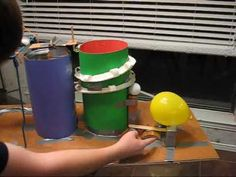 Simple Machine Project with all 6 simple machines. Rube Goldberg