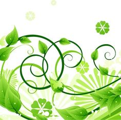Green Floral Vector Illustration