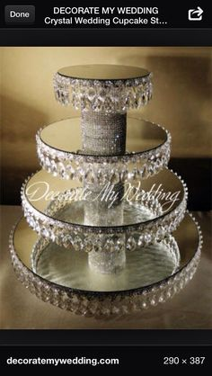 50 Trendy wedding cakes with bling crystals cupcake stands Cupcake Stand Wedding, Cake And Cupcake Stand, Wedding Cake Stands, Wedding Cupcakes, Cupcake Display, Cake Stands Diy, Cupcake Towers, Cupcake Cakes, Bling Wedding