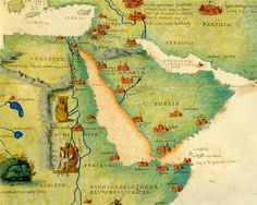 East Africa Drawing - Ethiopia, The Red Sea And Saudi Arabia, From An Atlas Of The World In 33 Maps, Venice, 1st by Battista Agnese