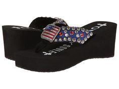 Gypsy SOULE Patriot Heel (Black) Women's Sandals