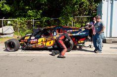 Kieth Rocco getting ready to race.