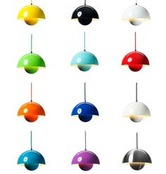 Diseño de Verner Panton. Lámpara Maceta. Google