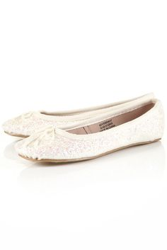white flats from topshop