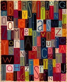 very cool alphabet. Would be great to see a similar one for the Thai alphabet - it only has about 29 VOWELS! Given up with the consonants and all three tones, sigh. Typography Alphabet, Typography Fonts, Typography Design, Alphabet Quilt, Alphabet Soup, Thai Alphabet, Alphabet Art, Alphabet And Numbers, Word Art