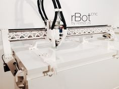 More videos and instructions and end effectors will follow soon. https://rbotcnc.wordpress.com Bill of materials is now available!  Min. build volume needed: 15cm x 15cm x 15 cm Everything except Part_X_4 and Part_MM_1 can be printed without supports. It is mounted on a Ikea MALM https://youtu.be/ZxIUGOjZZfI https://youtu.be/ALKv1c9ROAU https://youtu.be/XFw2ao0nOJ0 Use at your own risk.