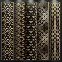 models: Other decorative objects - Decorative panel Decorative Metal Screen, Decorative Panels, Decorative Objects, Pattern Wall, Wooden Pattern, Surface Pattern, Laser Cut Panels, Metal Panels, Window Grill Design