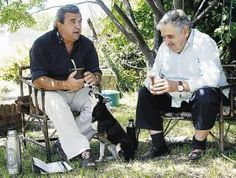 Uruguayn president Jose Mujica and senator Jorge Larrañaga