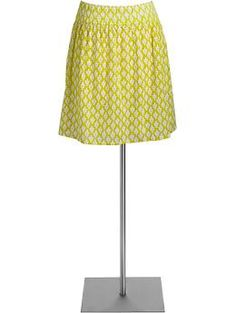 Bright lime green printed skirt from Old Navy. Pair it with a white tank and cute sandals, instant summer staple.