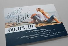 Kleinfeld Paper || Freeport Sailboat Save-the-Date with Photo