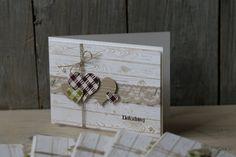 Hochzeitskarte, Karierte Herzen, Bild3, gebastelt mit Produkten von Stampin' Up!