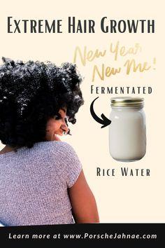 Extreme Hair Growth: Rice Water (No Boil Method) - PorscheJahnae Rice Water Benefits, Hair Places, Extreme Hair Growth, Natural Hair Treatments, Black Pigment, Rich In Protein, Hair Regimen, Hair Shampoo, Hair Conditioner