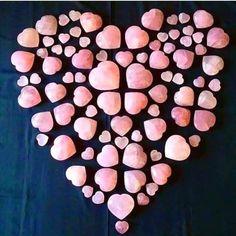 Gem Heart Crystals Minerals, Crystals And Gemstones, Stones And Crystals, Crystal Mandala, Crystal Grid, Healing Stones, Crystal Healing, Valentine Picture, Valentine Pics
