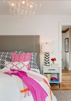 transitional bedrooom from designer