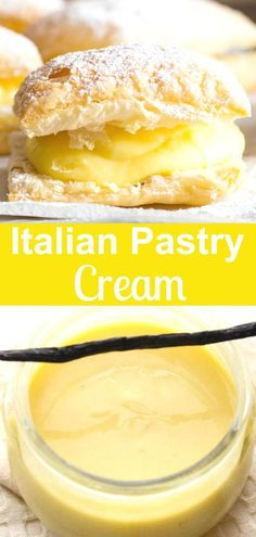 Italian Pastry Cream Italian Pastry Cream, an easy Italian vanilla cream filling, the perfect filling for tarts, pies or cakes. A simple delicious Italian classic. Delicious Desserts, Dessert Recipes, Fast And Easy Desserts, Easy Italian Desserts, Italian Recipes, Easy Pastry Recipes, Canadian Recipes, Gourmet Desserts, Dessert Sauces