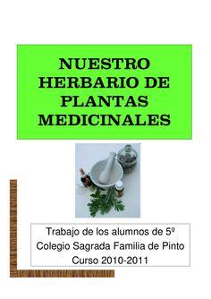 Trabajo cooperativo de alumnos de 5º de primaria del colegio Sagrada Familia de Pinto. El trabajo consistía en investigar plantas medicinales, crear un powerpoint y publicar el trabajo de todos.