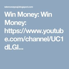 Win Money, Channel, Youtube, Youtubers, Youtube Movies