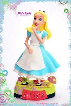 Alice , cake topper
