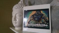 Check out this item in my Etsy shop https://www.etsy.com/listing/277221206/let-that-sht-go-blue-buddha-ceramic-tile