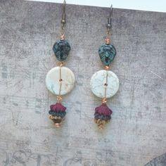 Boucles d'Oreilles Ethnique, Boucles d'Oreilles Masque Africain, Style Tribal, Style Africain : Boucles d'oreille par bleulucioleshop