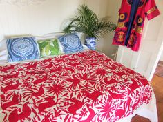 Traditional Mexican Bedspread - Pink