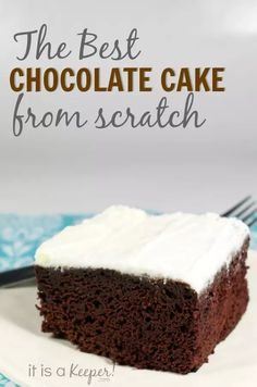 Basic Chocolate Cake Recipe - It Is a Keeper