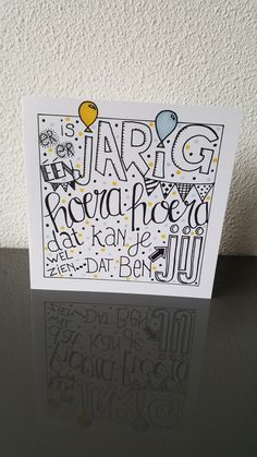 Handlettering For Beginners, Birthday Wishes, Birthday Cards, Tangle Doodle, Diy Cards, Diy And Crafts, Birthdays, Card Making, Doodles