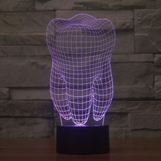 0679c045502 Realistic Human Tooth Sculpture 3D Optical Illusion Lamp