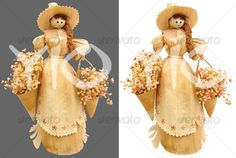 corn husk dolls iroquois | Corn husk doll - Home & Office Isolated Objects