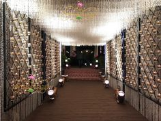 Outdoor flower wall wedding 42 Ideas for 2019 Wedding Reception Entrance, Wedding Hall Decorations, Wedding Mandap, Wedding Wall, Holiday Decorations, Wedding Badges, Flower Garland Wedding, Corporate Event Design, Indian Wedding Planner