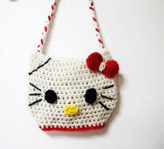 Hello Kitty Crochet Patterns Free | Chain: HELLO KITTY BAG Crochet pattern (Pdf file) - Hats