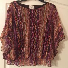 Colorful and airy Flowing sleeves eci Tops Blouses