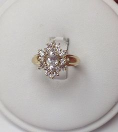 14kt White Solid Gold Gorgeous 4 Ct Oval Cz Stone Modern Ring Size 6.75 Exquisite Traditional Embroidery Art Jewelry & Watches