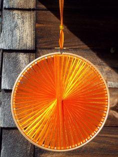 Autumn Wedding Decoration - Orange Handmade Light Catcher