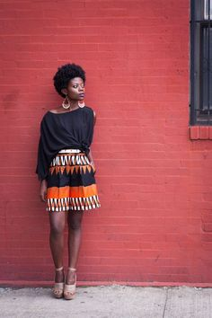 african print baggy shorts