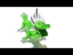 How To Make a 3D Origami Dragon (No.2) - YouTube, a little advanced for me yet but I want to find it later!