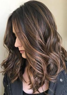 """Balayage dark brown ombre Ceremal highlight brown, Clip in hair extension, 7 pieces, 100gr/ set, $39~$71, 14""""~24"""", real human hair extension"""