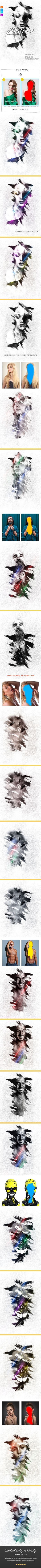 Abstract Photoshop Action #script #ink art • Download ➝ https://graphicriver.net/item/abstract-photoshop-action/21252802?ref=pxcr
