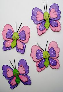 Button Crafts For Kids, Diy Crafts For Gifts, Foam Crafts, Arts And Crafts, Easy Drawings For Kids, Art For Kids, Butterfly Birthday Party, Quote Coloring Pages, Egg Carton Crafts