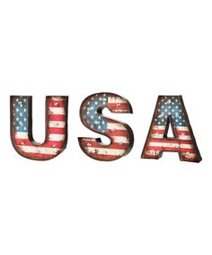 This LED USA Wall Art by Evergreen is perfect! #zulilyfinds