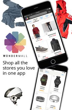 Shop from over 150 top brand stores in a single mall app