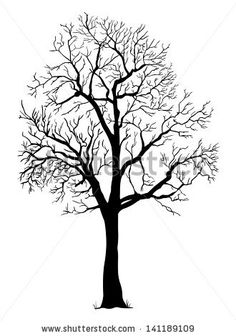 vector black silhouette of a bare tree Wall Mural ✓ Easy Installation ✓ 365 Day Money Back Guarantee ✓ Browse other patterns from this collection! Black Silhouette, Tree Silhouette, Dead Tree Tattoo, Tree Drawings Pencil, White Oak Tree, Tree Wall Murals, Tree Decals, Inside Art, Canvas Painting Tutorials