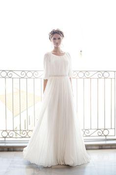 Modest Grecian Inspired Wedding Dress