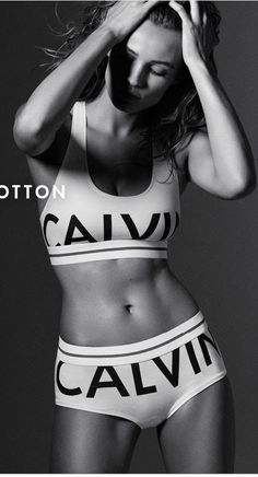 12c5165bb820f Calvin Klein Modern Cotton Logo Bralette. Sports Bra with light support and  racerback straps.