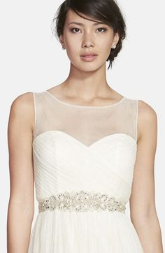 Nina Ornate 'Cassidy' Ornate Crystal Beaded Sash available at #Nordstrom