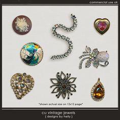 CU Vintage Jewels :: COMMERCIAL USE :: Memory Scraps