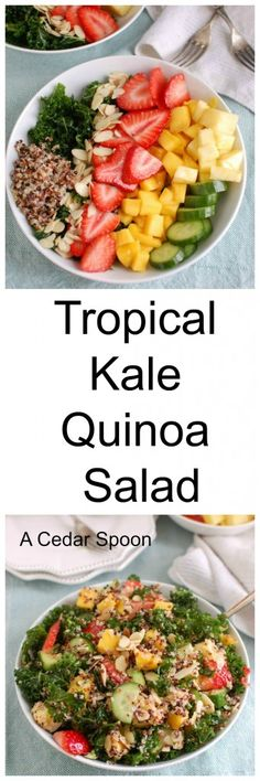 Tropical Kale Quinoa Salad is a light, healthy salad that makes a ...