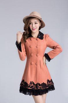 #coat #winter #evening #autumnt #spring #elegant #cute #official #unique #girl #women #womens #girls #pink