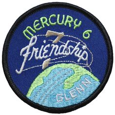 "Mercury Six — ""Friendship 7"">> souvenir patch, but decal included in STS-95 folder of Gee's papers. Glenn's second flight in space... One NASA official, other not...?"